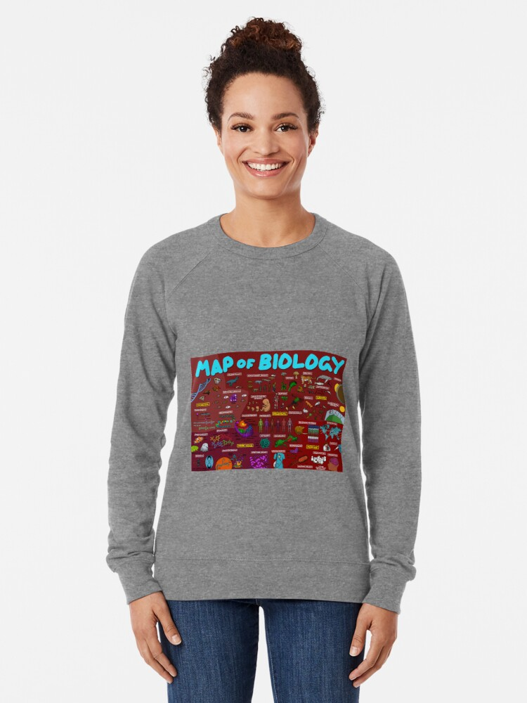 Alternate view of Map of Biology Lightweight Sweatshirt