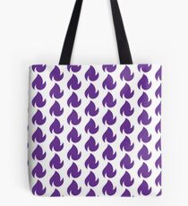 reality blurred purple dancing fire logo Tote Bag