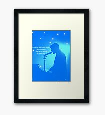 NEver Be Alone blue Framed Print