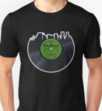 Portland Local Music Vinyl Record Unisex T-Shirt