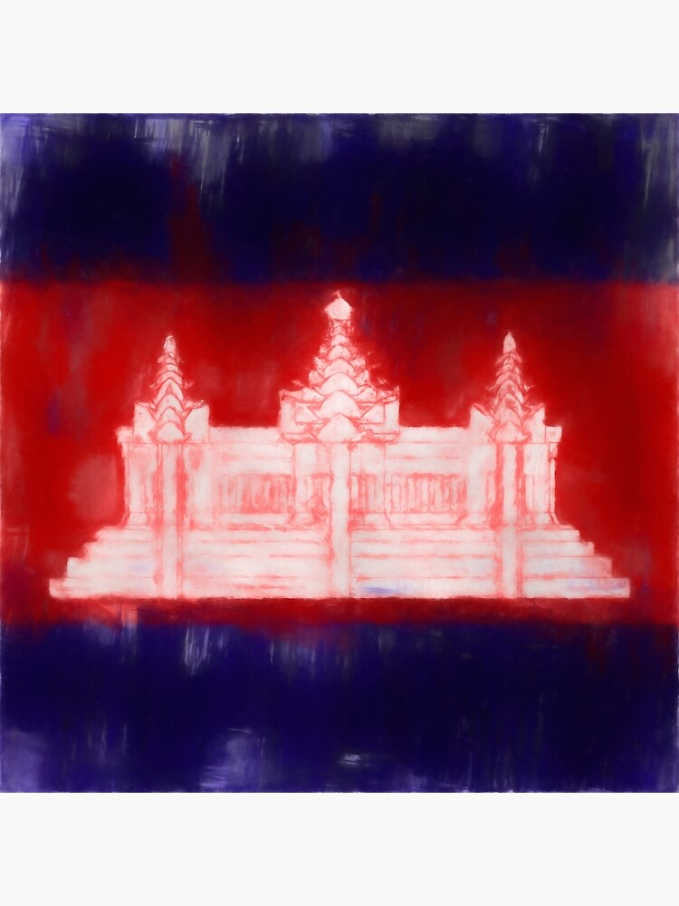 Cambodia Flag Reworked No. 1, Series 1 by 8th-and-f