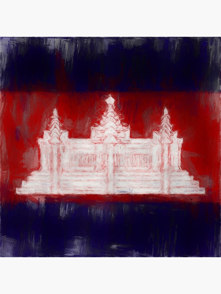 Cambodia Flag Reworked No. 1, Series 2 by 8th-and-f