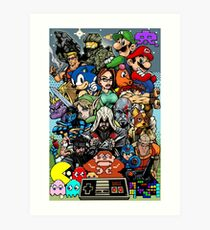 Video Game History Art Print