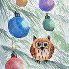« Petit hibou de Noël » par cindybarillet