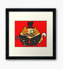 Fat Dapper Cat Framed Print