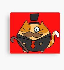 Fat Dapper Cat Canvas Print