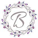 Monogramm-Buchstabe B | Personalisiert | Aquarell Design von PraiseQuotes