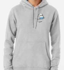 Too Many Birds! - Blue Budgie Pullover Hoodie