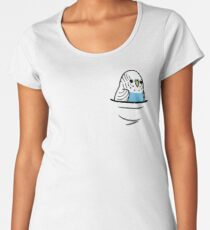 Too Many Birds! - Blue Budgie Women's Premium T-Shirt