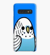 Too Many Birds! - Blue Budgie Case/Skin for Samsung Galaxy