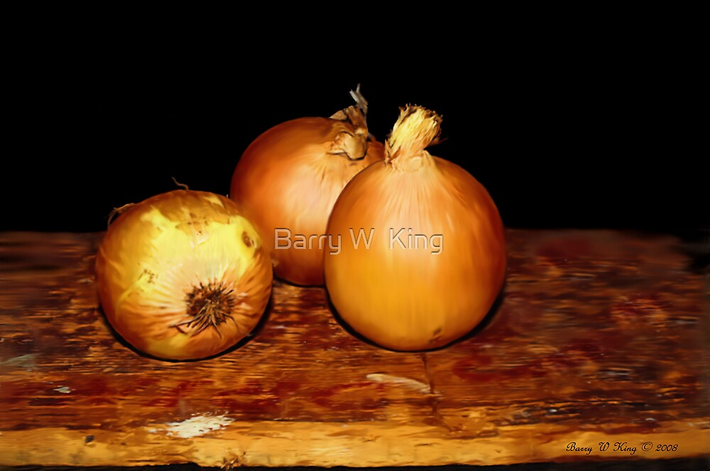 Onions - Still Life by Barry W  King