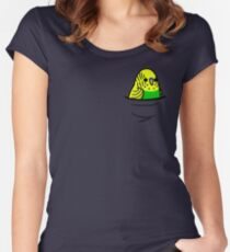 Too Many Birds! - Yellow n' Green Budgie Women's Fitted Scoop T-Shirt