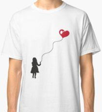 Child with heart balloon. Love. Classic T-Shirt