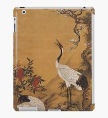 Pine, Plum and Cranes by Shen Quan, 1759 iPad Case/Skin