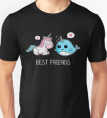 Einhorn und Narwal beste Freunde Unisex T-Shirt