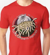 Ordained Minister of the Church of the Flying Spaghetti Monster on White Unisex T-Shirt
