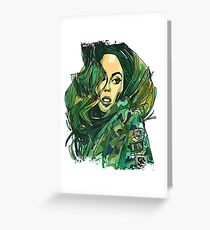 Army Girl Carlita Greeting Card