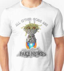 ALL OTHER GODS ARE FAKE NEWS FSM Flying Spaghetti Monster T-Shirt