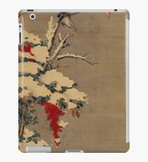 Flowers and Birds in the Snow 1765 by Sō Shiseki iPad Case/Skin