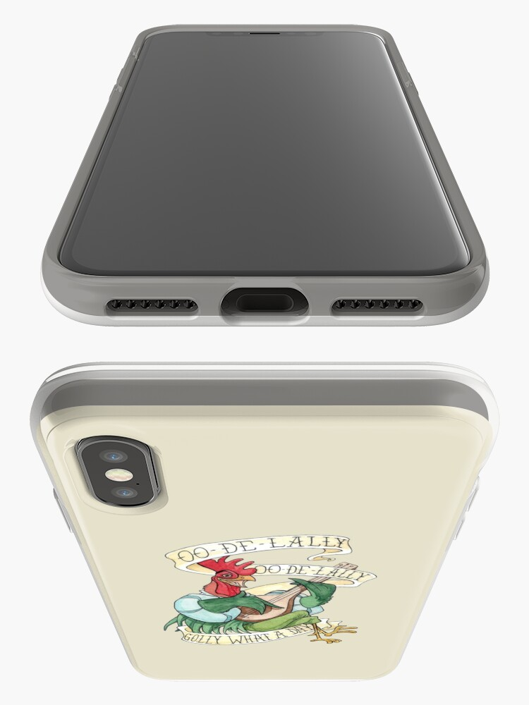 Alternative Ansicht von Alan-A-Dale Rooster : OO-De-Lally Golly What A Day Tattoo Watercolor Painting Robin Hood iPhone-Hüllen & Cover