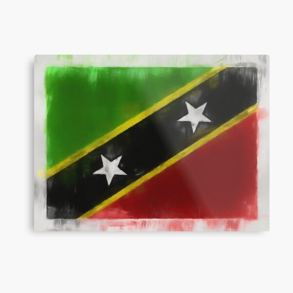 Saint Kitts And Nevis Flag Reworked No. 66, Series 1 Metal Print
