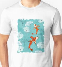 Waterlily koi in turquoise Unisex T-Shirt