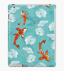 Waterlily koi in turquoise iPad Case/Skin