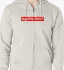Legalize Ranch - Red Zipped Hoodie