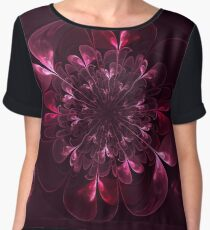 Flower In Bordo Chiffon Top