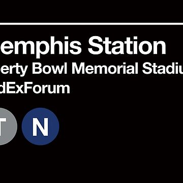 Memphis, Tennessee Sports Venue Subway Sign by phoneticwear
