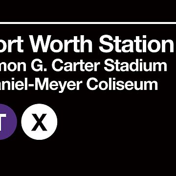 Fort Worth, Texas (TCU) Sports Venue Subway Sign by phoneticwear