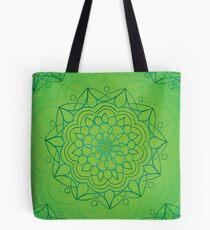 Mandala - Green - Heart Chakra Tote Bag