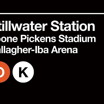 Stillwater, Oklahoma (OSU) Sports Venue Subway Sign by phoneticwear