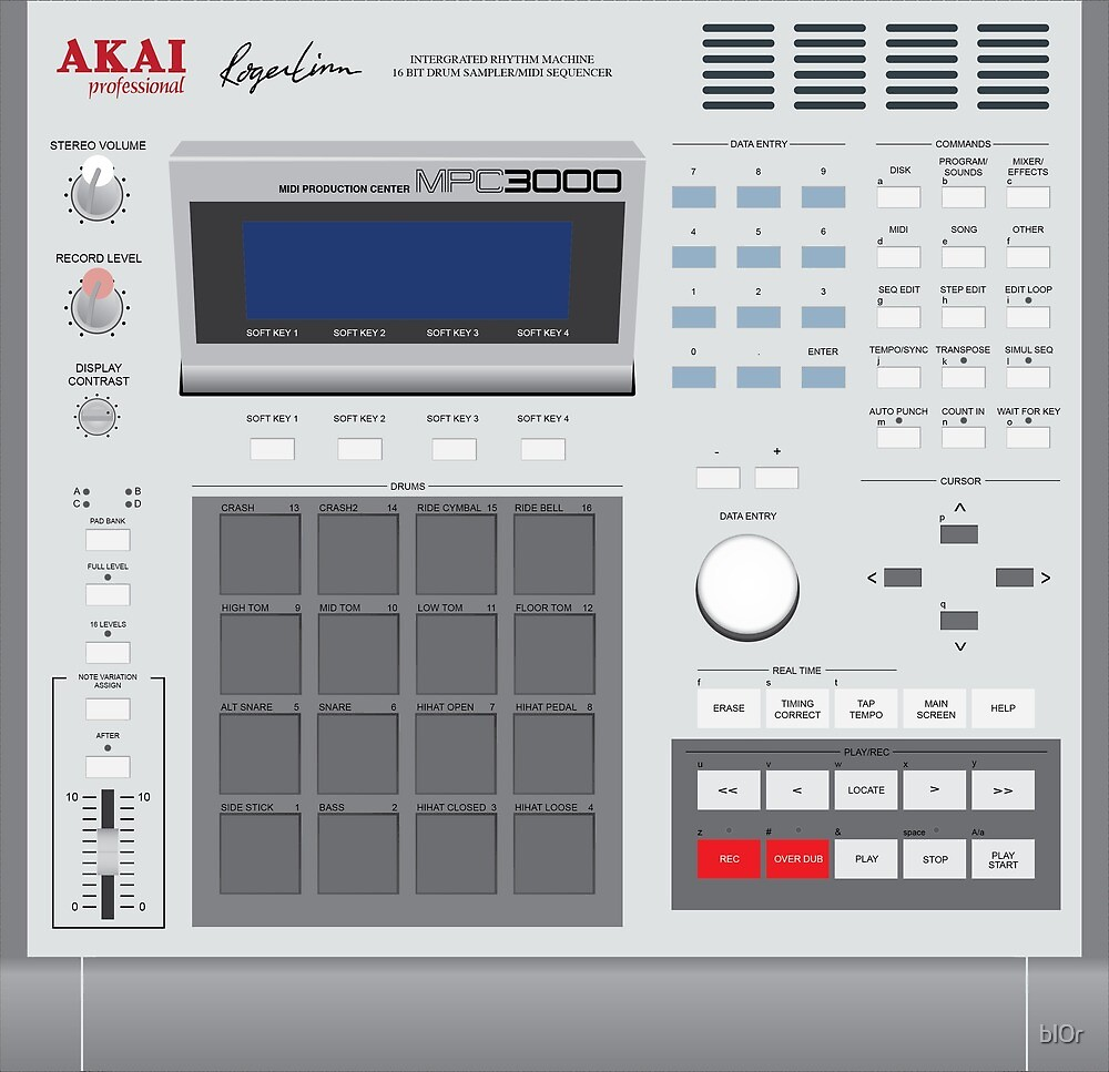 AKAI MPC 3000 by bl0r