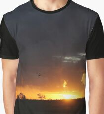 Fiery Sunset Graphic T-Shirt