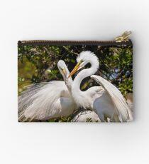 Egrets Build Nest Studio Pouch