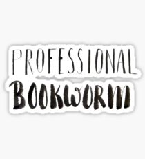 Professional bookworm Sticker