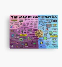 Die Karte der Mathematik Metallbild
