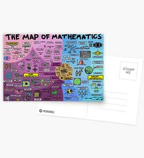 The Map of Mathematics Postcards
