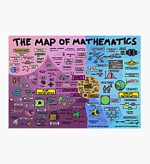 The Map of Mathematics Photographic Print