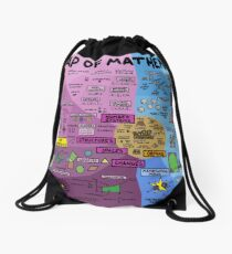 The Map of Mathematics Drawstring Bag