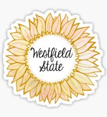 Westfield State University Sunflower Sticker