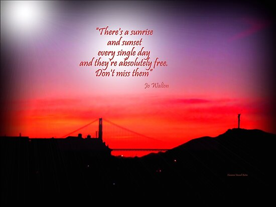 Golden Gate  Sunset by Charmiene Maxwell-Batten