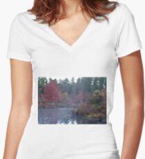 Autumn Mist Women's Fitted V-Neck T-Shirt