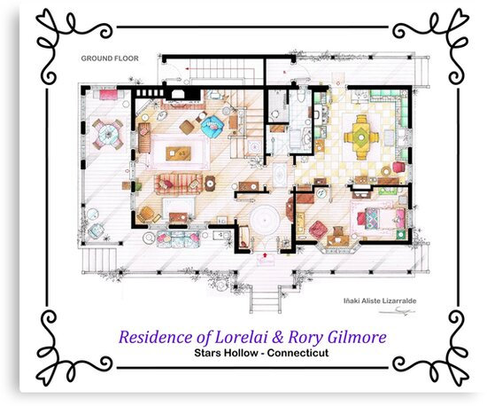 House of Lorelai & Rory Gilmore - Ground Floor by Iñaki Aliste Lizarralde