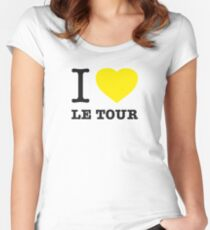 I ♥ LE TOUR Women's Fitted Scoop T-Shirt