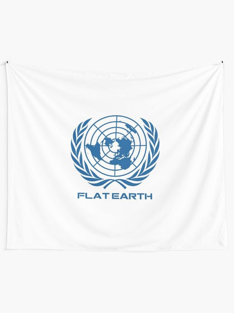 Vista alternativa de Tela decorativa Flat Earth Map Logotipo