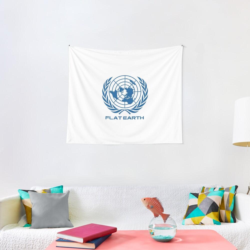 Flat Earth Map Logotipo Tela decorativa