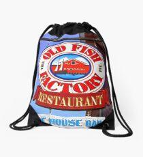 Old Fish Factory Restaurant sign Drawstring Bag
