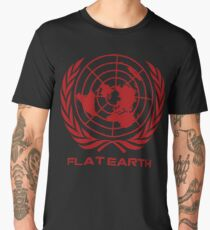 Flat Earth Map Logo Men's Premium T-Shirt